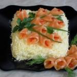 Праздничные салаты с семгой