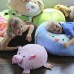 Подушки-игрушки для детской комнаты