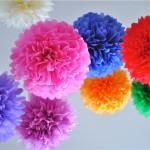 Бумажные шары для оформления праздника