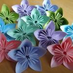 Цветок сакуры — оригами