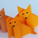 Оригами для детей. Лисичка оригами