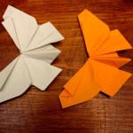 Оригами — Бабочка с распущенными крыльями