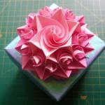 Оригами роза — подарок своими руками