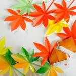 Бумажные листья с пожеланиями