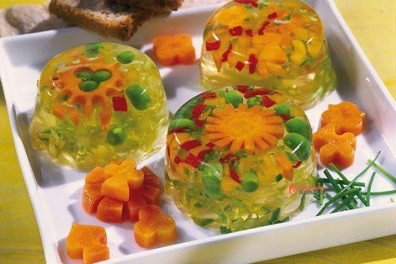 Овощи с желатином рецепт