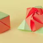 Волшебная оригами роза-куб