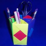 Оригами подставка для карандашей