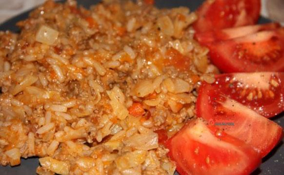 Блюда из риса и фарша в духовкеы с фото