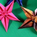 Оригами цветок звезда