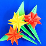 Оригами букет на 8 Марта