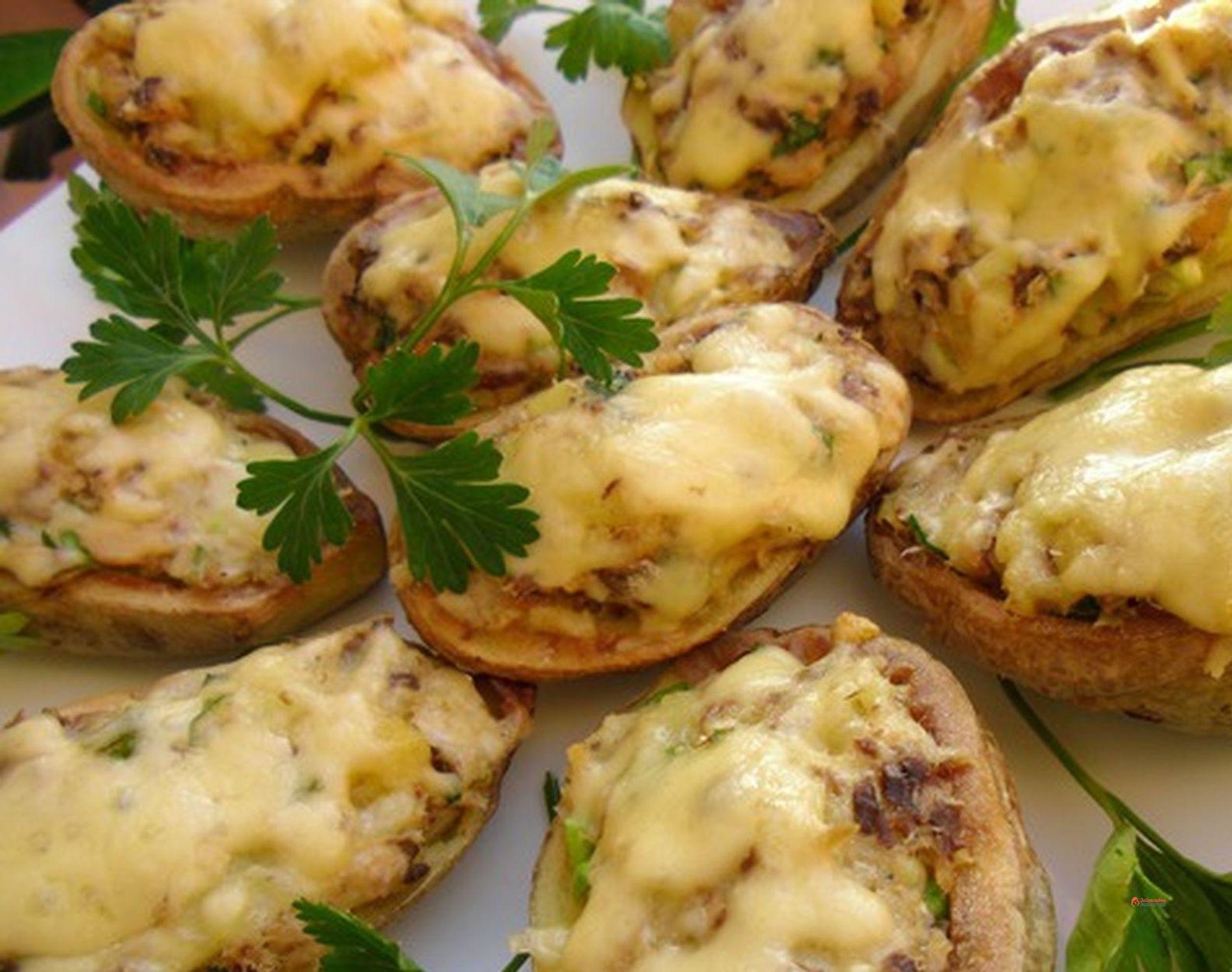 Лодочки из картошки пошаговый рецепт фото