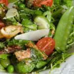 Итальянский зеленый салат с курицей
