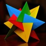 Оригами кусудама из треугольников