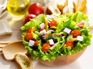 salad-greek-vegetables-cucumber-pepper-tomatoes-leaves-olives-cheese-food-dish-bread-baton-oil