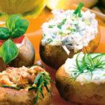 Печеный картофель с разными начинками
