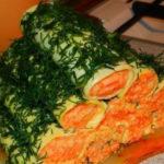 Сырные трубочки с острой морковкой