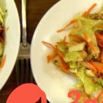 Готовимся встречать Новый 2018 год: Легкий салат из пекинской капусты с куриным мясом
