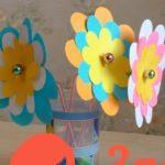Цветы из бумаги и трубочек своими руками