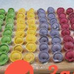 Цветные домашние пельмени