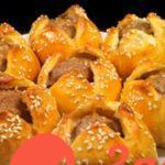 Мясные пирожки Тюльпаны к празднику