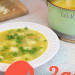 Быстрый куриный суп с манными клецками