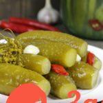 Рецепт соленых огурцов на зиму