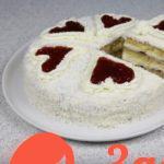 Торт Нежный с конфитюром и взбитыми сливками