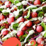 Салат со шпинатом, арбузом и беконом